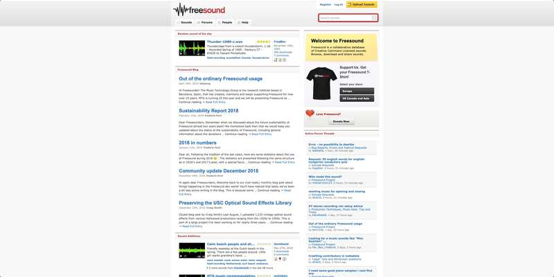 Freesound-web