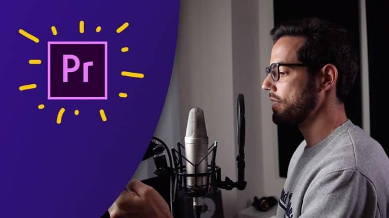 Cómo grabar voz en off en Adobe Premiere