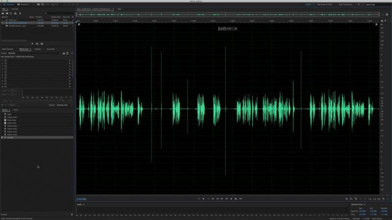 onda de audio con picos
