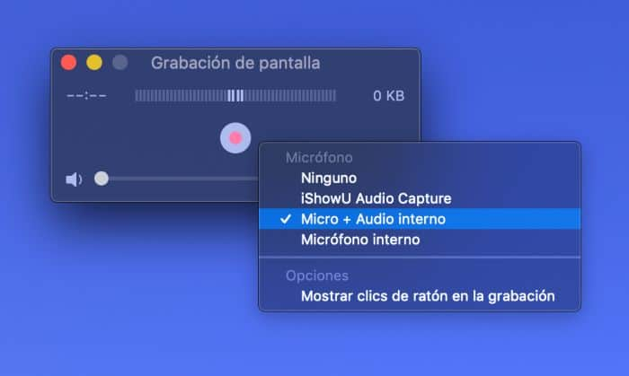 grabar audio interno mac quicktime
