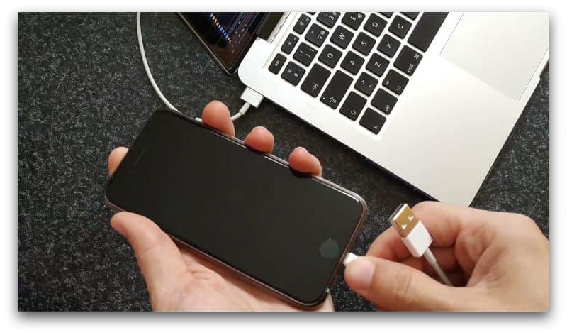 conectar iphone al mac mediante conector lightning